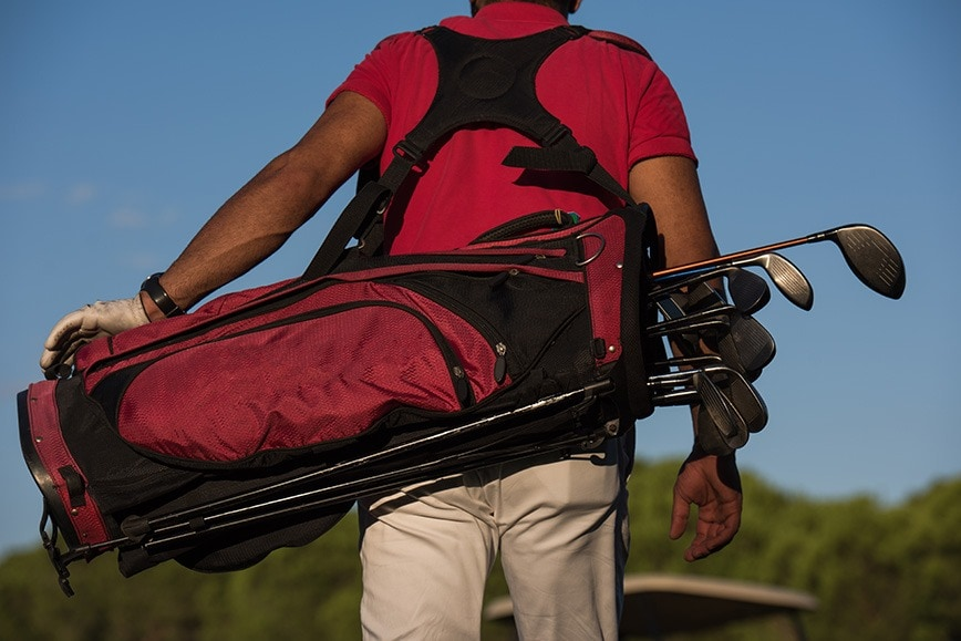 Carrying A Golf Bag - Two Straps