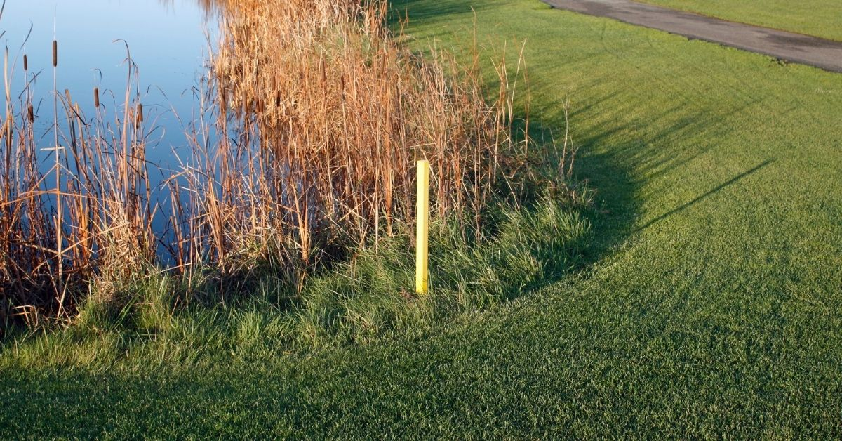 golf red stake